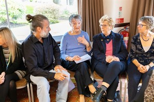 Discussion group at Hereford