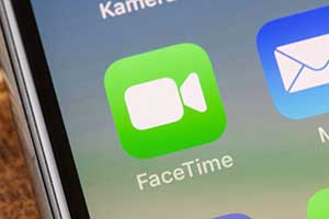 FaceTime icon on a phone